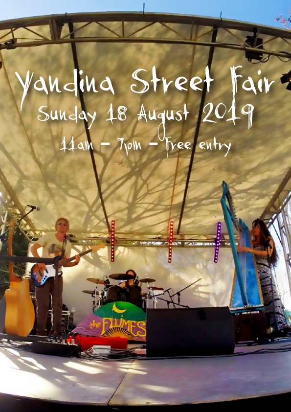 We're stoked to be returning to Yandina Street Fair this year!! Last time we played we were still the Flumes (as you can see in Shelly M's pic of us).